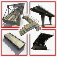 3d bridges modeled model