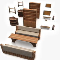 3d furniture old model