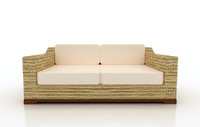 beach lounger sofa 3d model