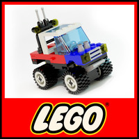 lego 6641 jeep toy 3d max