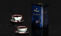 life coffee beans cup 3d model