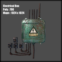 3d model of electrical box