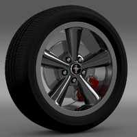 3ds max mustang bullit 2008 wheel