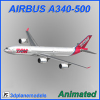 airbus a340-500 3d 3ds