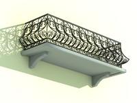 maya architectural balcony