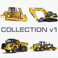 Collection heavy vehicle v1 construction equipment industrial transport engineering machine power big x-machine