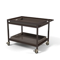 Sutherland PENINSULA BAR CART TROLLEY SERVICE TABLE modern contemporray outdoor Terry Hunziker
