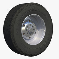3d model wheel trailer fridge rim