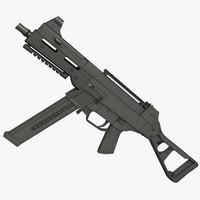 ump 45 pistol gun 3d max