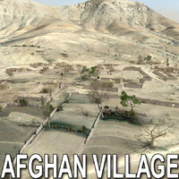 afghan houses village afghanistan 3d 3ds