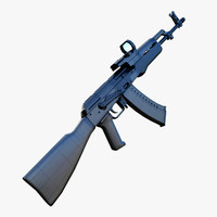3d max ak47 assault rifle