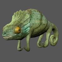 3d chameleon reptile lizard model