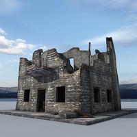 ruin building obj