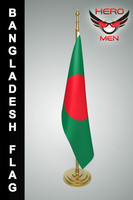 bangladesh flag 3d model