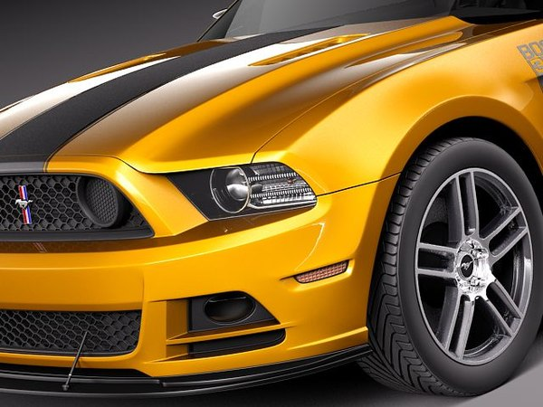 mustang 302 boss 2013 3d 3ds - Ford Mustang BOSS 302 2013... by squir