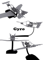 gyro flying machine 3d model