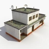 town building street 3d model