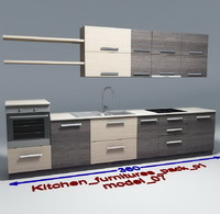 kitchen furnitures 07 3ds