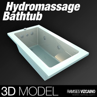 hydromassage bathtub 3d model