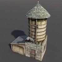 3d water tank 3 model
