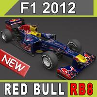 3d 2012 red bull rb8