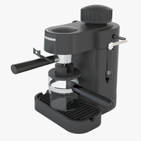 3d model of espresso coffee machine severin