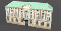 3ds max neoclassical building exterior