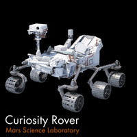 3d model mars curiosity rover