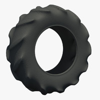 3d model tractor tire rubber