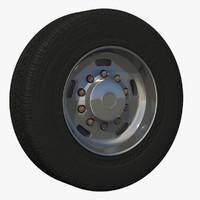 wheel trailer rim 3d model
