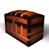 3d model antique trunk