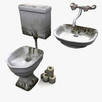 prison wc sink 3d model