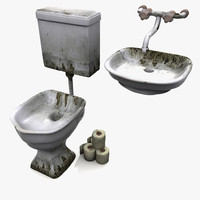 3dsmax prison wc sink