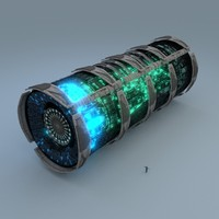 3d stardrive spaceship engine model