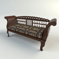 ornate couch 3d model
