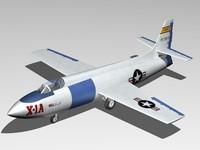 3d bell x-1a x-1 aircraft model