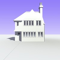 british detached houses unit 3d c4d