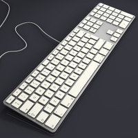 apple extended usb keyboard 3d dxf