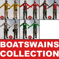 aviation boatswains static 3d model