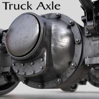 semi truck axles 3d max