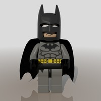 3d lego figure batman