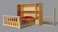 3d max furniture bed children
