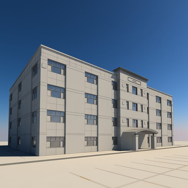 office building 3d model - Office Building #9... by morihuela