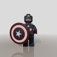 3ds max captain america lego