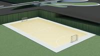 futsal court 3d model