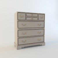 henredon bedroom chest 7200-48 3d max