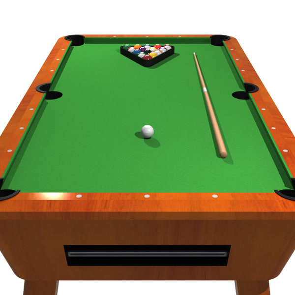 3d pool billiards - Pool table green felt ...