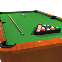 Billiards / Pool Table Set: