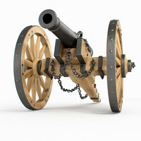 field cannon 3d max