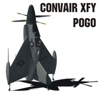 convair xfy pogo 3d model